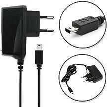 subtel® Cargador - 1.4m (1A / 1000mA) para Garmin Edge Touring, Edge 810 800, Edge 500, Drive 51, DriveAssist 50, DriveSmart 61, Nüvi 2699 Nüvi 2597, Oregon 600, Oregon 750, eTrex 30, eTrex Touch 35, Astro 320, Montana 610, GPSMAP 64, ForeTrex 401, Forerunner 205 305, Zumo 220, Zumo 340, Camper 770, Dakota 10 (5V / Mini USB) Cable de carga negro