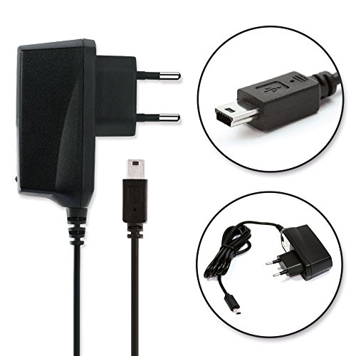 subtel® Qualitäts Ladekabel - 1.4m (1A / 1000mAh) für Garmin Nüvi / Oregon / Drive / Zumo / Edge / Montana / Etrex (5V / ) Ladegerät Netzteil Charger schwarz
