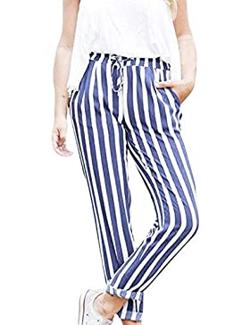 Pantalones Anchos harén para Mujer Otoño Invierno 2018 Moda PAOLIAN Casual Pantalones Vestir Cintura Alta Señora...