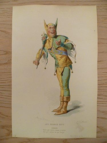 Kostüm De Marie Paris - Les Sobres Sotz. Kolorierter Stahlstich von