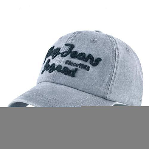 QWER Baseballmütze Baseball Cap Gewaschene Frau Denim Papa Hut Für Männer Spielen Jeans Legende Hip Hop Hut Outdoor Knochen Skateboard