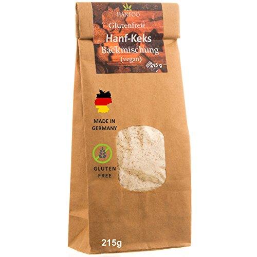 *Backmischung GLUTENFREI Vegan , Vegane Kekse 215g – Made in Germany – Vegane, glutefreie Keks-Backmischung zum Selberbacken mit Hanfsamen-mehl*