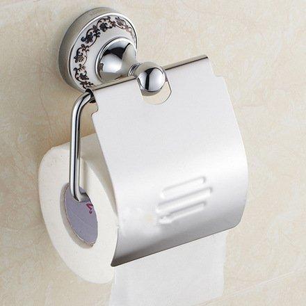 Europäischen Stil Edelstahl, Blau - Weißem Porzellan, Toilettenpapier Rack, Bad Umhauen, Wasserdichte Toilettenpapierhalter