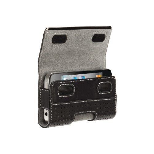 Griffin Elan Holster Metal Leder Umhängetasche für iPhone 4G schwarz (Griffin Iphone Holster)