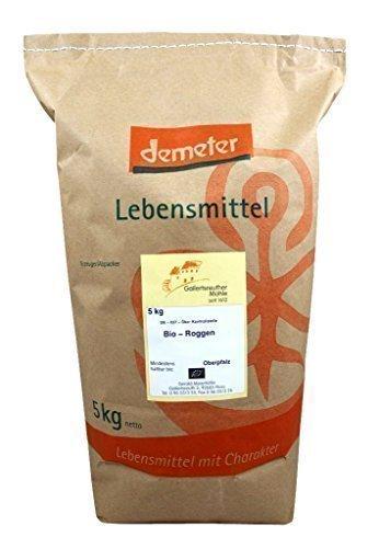 Bio Roggen 2x5 kg - Demeter Bio Roggenkörner unvermahlen