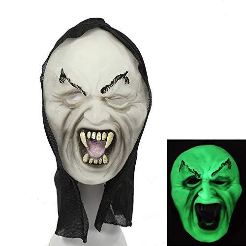 MROSW Haunted House of Horror Helle Halloween-Maske Furchtsame Grimassenmaske , 04
