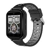 SSeir Bluetooth 4G-Smart-Uhr, WiFi-Uhr Sport-Herzfrequenz-Monitor Fitness-Tracker SIM-Karte Wasserdichte Remote-Kamera für die meisten Arten von Smartphones,A