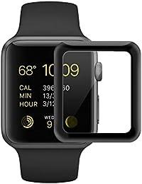 Apple Watch Series 3 Protector de Pantalla, Mylboo 3D Curvo Iwatch 42mm [Cobertura Completa] [9H Dureza] [0,2 mm de Espesor] de Vidrio Templado Pantalla Protectora de la Película para Apple Watch Series 3 (3rd Generación)
