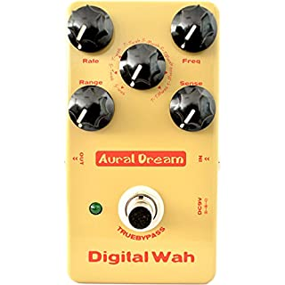 Aural Dream Digital Wah Guitar Effect Pedal including 8 Auto WahWah and Multiple Wah Effects with large dynamic adjustment True bypass