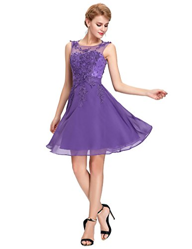 CoCogirls - Robe - Trapèze - Femme purple