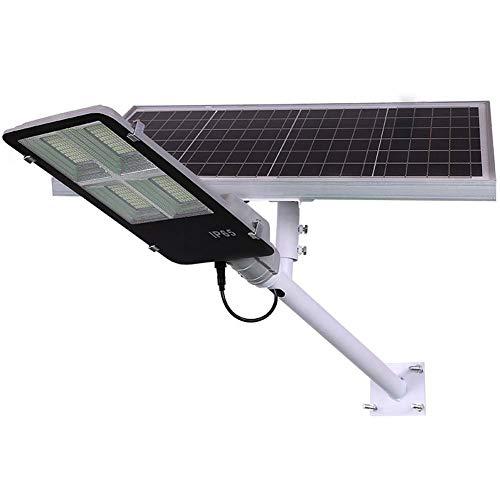 XJEO Solar-Scheinwerfer, LED-Straßenleuchte mit Pol, hohe Helligkeit im Freien Wasserdichten Ip65 Garten-Licht extralange Beleuchtung-Zeit-Sicherheitslampe, Solarleuchten -