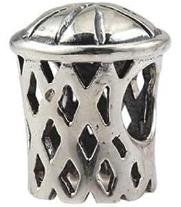 Everbling Breloque en argent sterling 925pour bracelet Pandora Motif panier