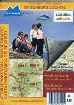 Preisvergleich Produktbild Luftbildpanorama & Wanderkarte - Almenregion - Gitschberg Jochtal