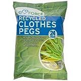 Ecoforce - Mollette estremamente resistenti, confezione da 48, realizzate in plastica riciclata, 2 confezioni da 24