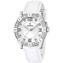 FESTINA F16537/1 - Reloj de mujer de cuarzo, correa de piel color blanco