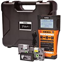 Brother PT-E550WVP - Impresora de etiquetas (180 x 180 DPI, 30 mm/seg, 1,8 cm, LCD, Inalámbrico y alámbrico, 6 MB) Negro, Naranja