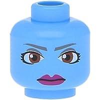 Lego Figuren Kopf Beidseitig Männlich Sw Falten Und Gelbe Augen Beige