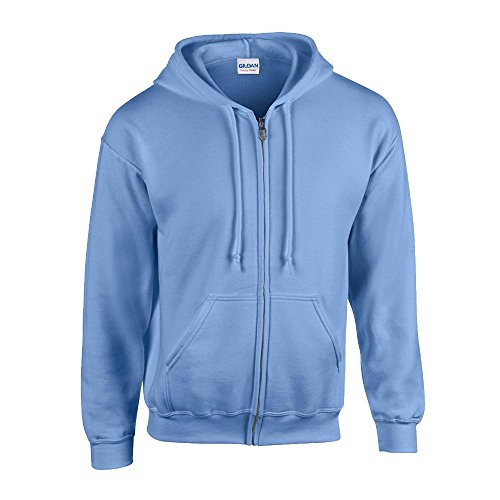 Gildan - Kapuzen Sweat-Jacke 'Heavyweight Full Zip' L,Carolina Blue (Kapuze Carolina Blau Sweatshirt)