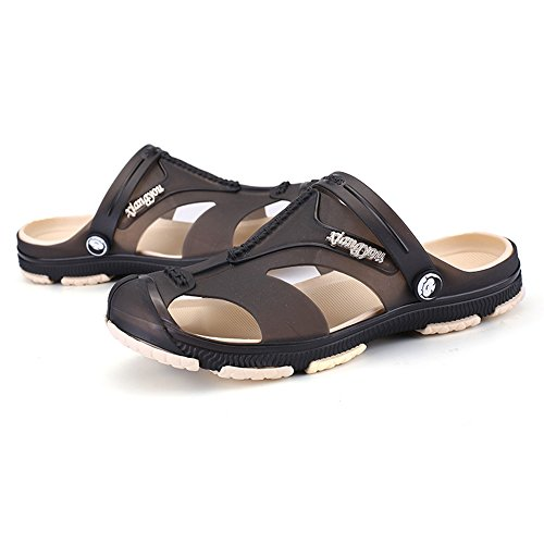 BAINASIQI Herren Sommer Sandalen Slippers Herren Clogs Schuhe Freizeit Sandalen Outdoor Strand Pantoffeln Schwarz