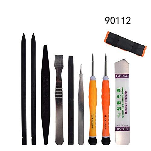 Aufbewahrungstasche 9-in-1 Elektronik Reparatur Tools Kit Spudger Pry Screen-Öffnungs-Werkzeug-Schraubenzieher-Pinzette-Satz für Handy-Tablette - Pry Tool Elektronik