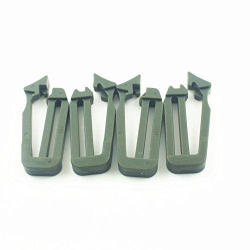Generic 10pz 25 Millimetri Molle In Nastro Clip Di Collegamento Fibbia Clip per Zaino - Nero Verde