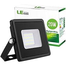 LE Foco LED 20W = 200W halógeno, Impermeable, Blanco frío, Proyector LED Exterior