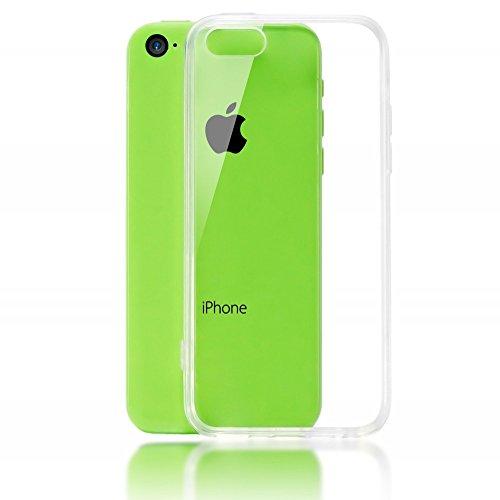 iPhone 5C Coque Protection de NICA, Housse Silicone Portable Premium Case Cover Ultra-Fine Transparente, Cristal Clair Anti-Choc Souple Mince Gel Slim Bumper Etui pour Telephone Apple iPhone 5-C Phone