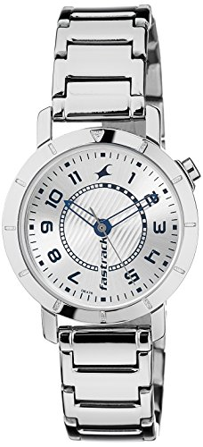 41Qpq4gF2FL - 6112SM01 Fastrack Silver Women watch