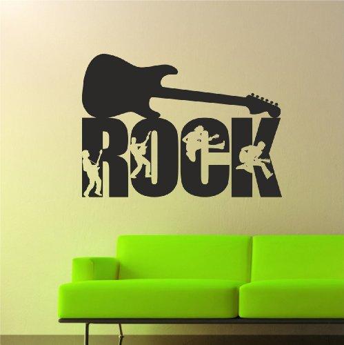 Adesivo da parete, motivo chitarra rock, dimensioni: larghezza 78 cm x altezza 56 cm, TR9