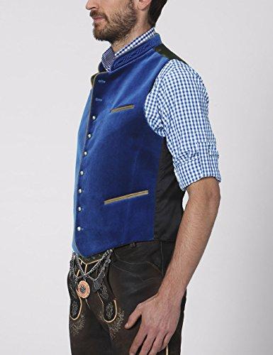 Stockerpoint Herren Trachtenweste Weste Ricardo Blau (royale)
