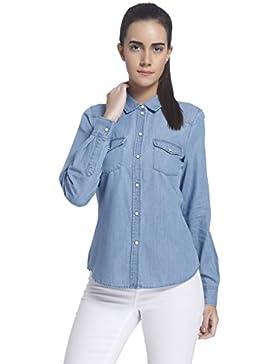 VERO MODA Damen Hemd Vmdaisy Denim Shirt Lt Blue Ns