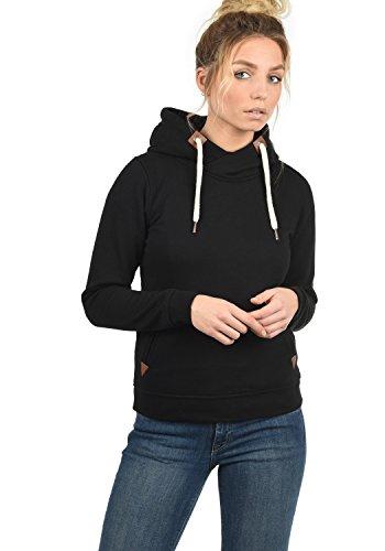 DESIRES VickyHood Damen Damen Hoodie Kapuzenpullover Pullover Mit Kapuze Cross-Over-Kragen Und Fleece-Innenseite, Größe:S, Farbe:Black (9000) - 2