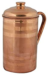Aaruthraa Jug, 1-Piece, 2 Liters, Copper