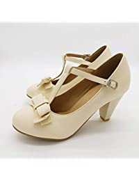 Zapatos para niña PINGXIANNV Sweet Bow Elegant Lolita
