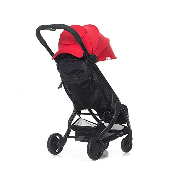 Ergobaby Metro Lightweight Buggy Stroller Pushchair with Sun-Shade Canopy One Hand Foldable, 6 Months to 18 kg Toddler (Red) Ergobaby A stroller that knows no limits. The Ergobaby Metro Strollers are ultra compact and fits effortlessly into small car boots and most aeroplane luggage compartments. An ideal baby and infant travel system. Baby comfort without compromise - soft, comfortable Stroller packed with plush, cushy padding that supports baby's head, back, bottom and legs . Advanced multi-zone support, and an adjustable footrest give your baby a comfortable seat. The gentle suspension and the shock absorbing PU tyres effortlessly tackle challenges such as kerbs, cobblestones and paving stones. Padded handle and strap. Storage tray for bags and shopping. 2