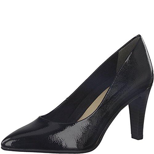 Tamaris Damen Pumps 22409-21,Frauen Pumps,elegant,feminin,festlich,Hochhackige Schuhe,Abendschuhe,Businessschuh,Trachten-Schuh,Stiletto 7.5cm,Black PATENT,EU 37 -