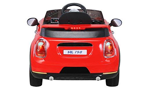 RC Auto kaufen Kinderauto Bild 4: Actionbikes Motors Kinder Elektroauto Mini Cooper Eva Reifen Ledersitz Kinderfahrzeug Kinderauto in vielen Farben (Rot)*