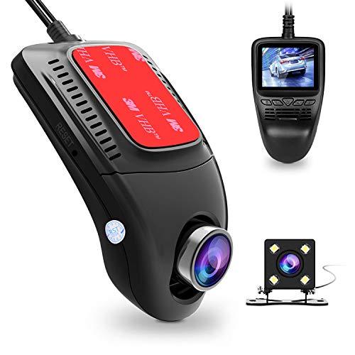 """Dash Cam, Tenswall Cámara de Coche WIFI 1080P Full HD Videocámara DVR G-Sensor, Ciclo de Grabación, Visión Nocturna, 2.0"""" LCD, 170° Ángulo Coche Dashboard Camera Grabadora"""