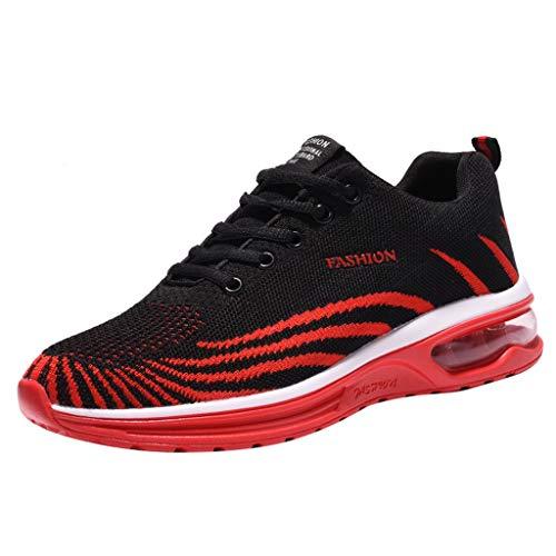 Jugend Rot Leder Kinder Schuhe (REALIKE Herren Farbverlauf Sportschuh Sneaker Ultraleichte rutschfest Laufschuhe Freizeitschuhe Atmungsaktiv Leicht Sportlich Geeignet für Jugend drinnen und draußen Bergsteigen Lauftraining)
