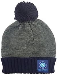 Cappello NAPOLI con risvolto e Pon Pon Grigio NAP-12786 d91f737dc43f