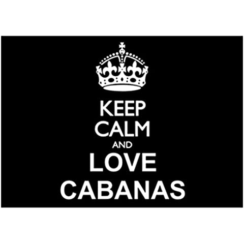 Teeburon Keep calm and love Cabanas Sticker Pacchetto di 4
