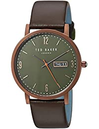 044d824bbfc Ted Baker Men s Analog Quartz Watch with Leather Strap TE15196009
