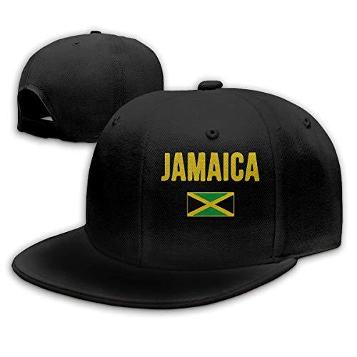 Unisex Baseball Hut, Jamaican Flag Hip Hop Huts Adjustable Snapback Hut Summer Huts for Men (Jamaican Hüte)