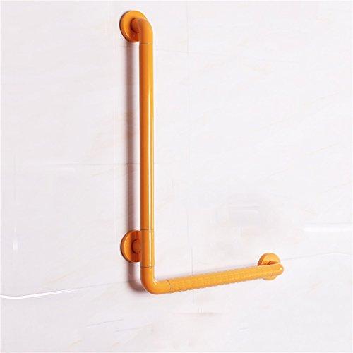 L-Typ Badezimmer Anti-Rutsch Handlauf/WC Badezimmer Alter Mann Behinderte Barriere Freie Geländer/Griff 50 * 70cm Weiß Gelb (Farbe : Gelb) -
