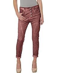 CASPAR KHS014 Pantalon boyfriend vintage pour femme - ATTENTION : PRENDRE UNE TAILLE PLUS PETITE - 34 à 44