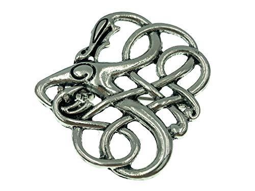 Patch Nation Drago Norvegese Vichingo Cosplay Metallo Spilla Distintivo Pin...