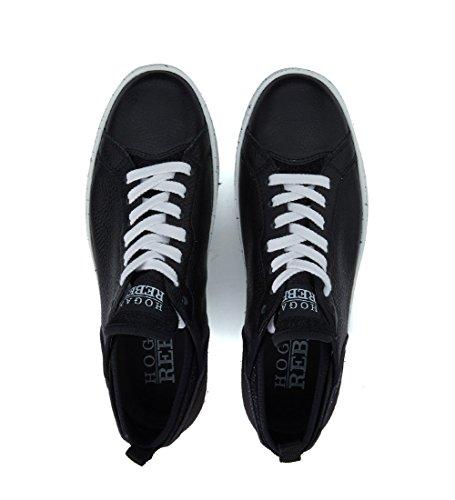 Sneaker Hogan Rebel R141 in pelle e nabuck nero Nero