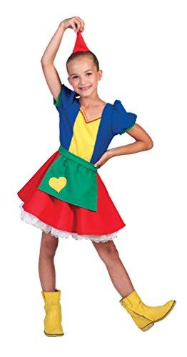 Karneval-Klamotten Zwerg Kostüm Mädchen mit Zwergen-Hut Zwergen-Mütze Mädchen-Kostüm Größe - Zwerge Aus Schneewittchen Kostüm