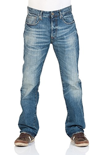 G-Star Herren Jeans 3301 Loose Fit - Blau - Medium Aged, Größe:W 33 L 32, Farbe:Medium Aged (071) (Relaxed Fit Jeans)