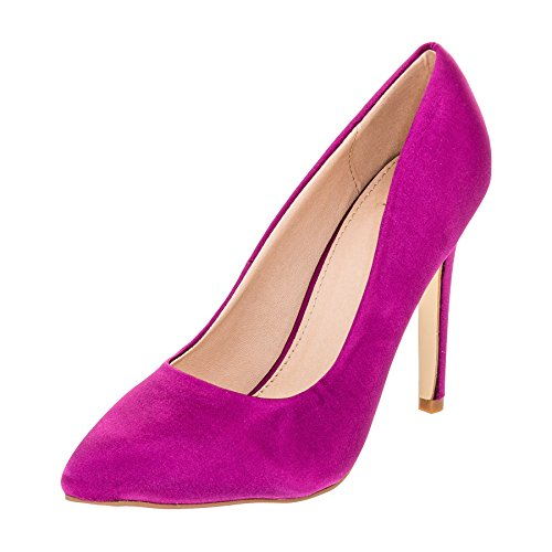 Modische Damen High Heels Pumps Stilettos in Vielen Farben M362ma Magenta 39